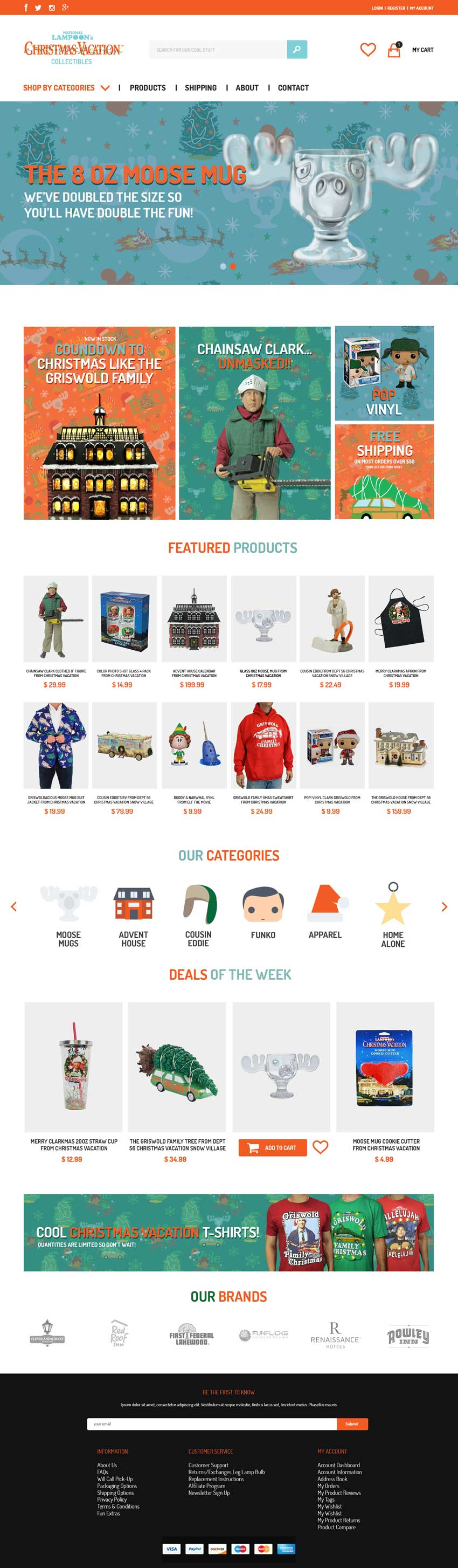 Image of National Lampoon's Christmas Vacation Collectibles website design