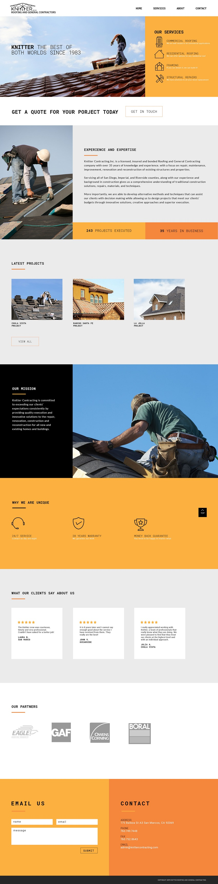 Image of Knitter Contracting website design