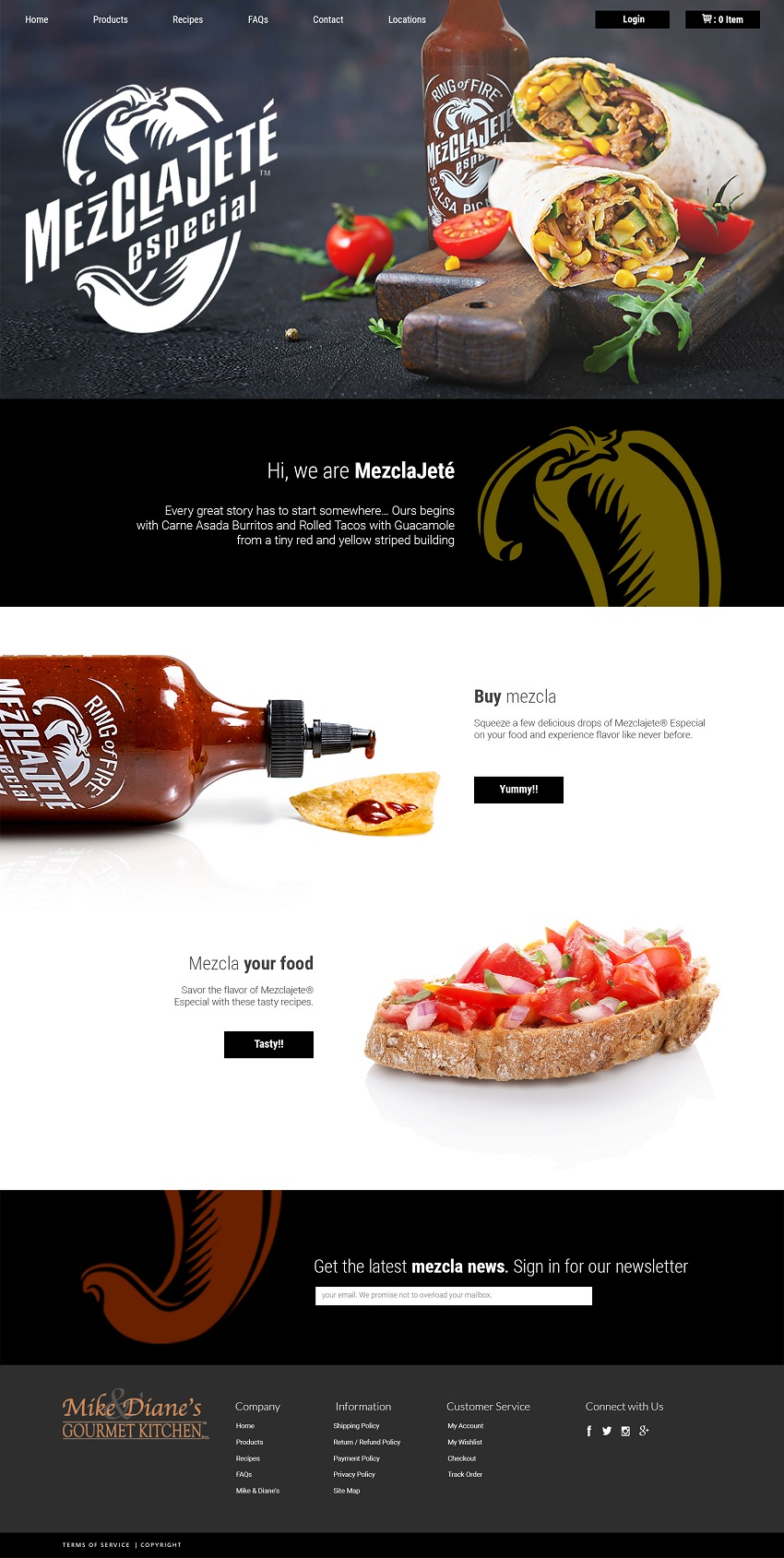 Image of Mezclajete Especial website design