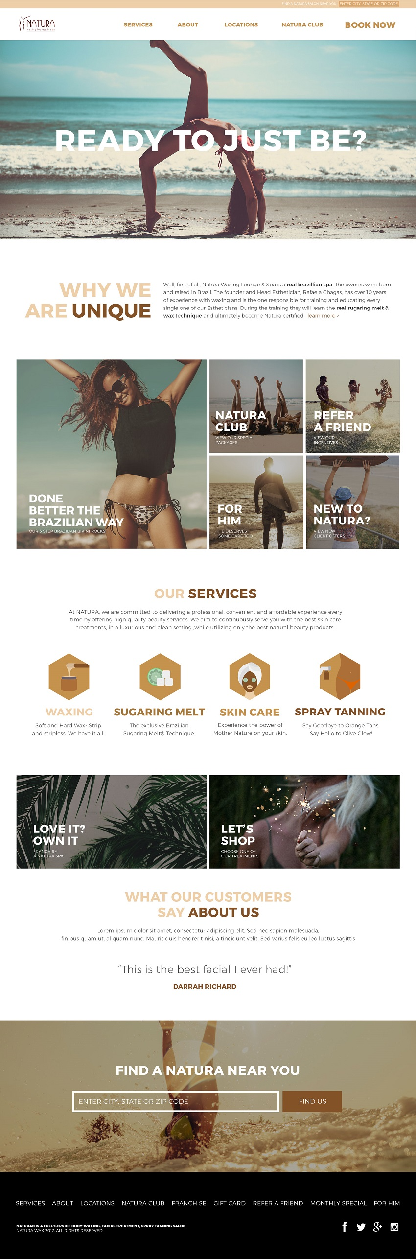 Image of Natura website design