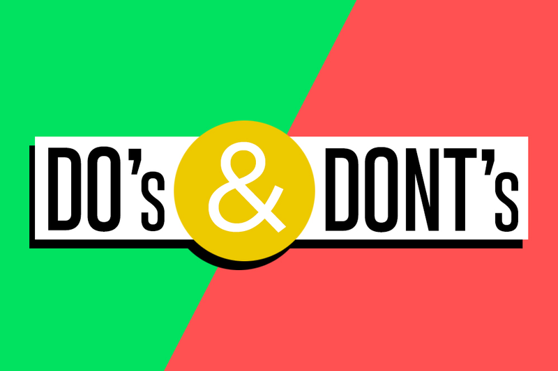 DOs and DONTs For Starting Your Website